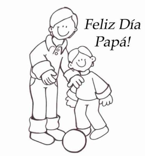 Dibujos para todo: Dibujos para colorear: Día del padre